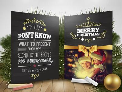 Create a custom Christmas Greetings card