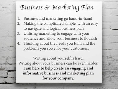 Write an engaging and informative business and marketing plan