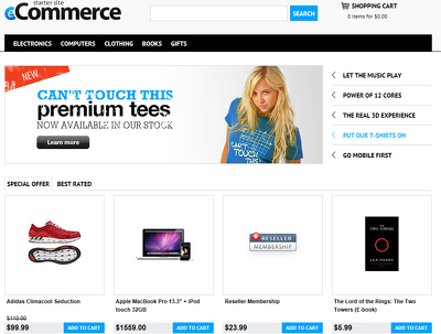Design responsive eCommerce website / Online shop