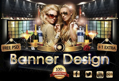Design any banner, header, facebook timeline, Google Cover, NEW Twitter Cover