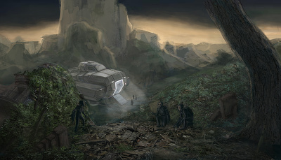 Create digital environment paintings and other concept art for your project.