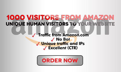 Send 1000 Real and Unique visitors from Amazon.com