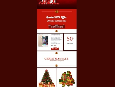 Create Christmas email newsletter for Mailchimp
