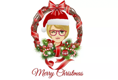 Draw your face in cartoon and christmas theme