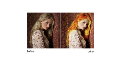 Color your Hair in your images