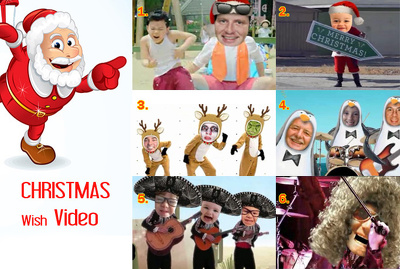 Make you Happy Christmas wish video starring you