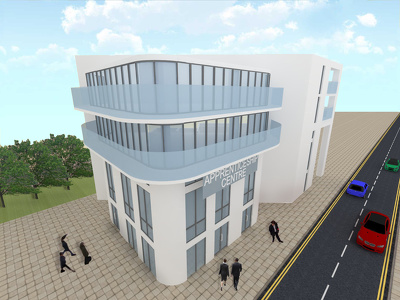 Create a 3D visual of an architectural project (interior or exterior) in 3D Sketchup