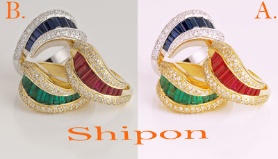 Completed perfectly Jewelry background remove and Retouching 50 image