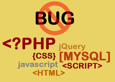 Fix any bug in PHP, Wordpress,  MySql database, HTML, Css, Javascript, Jquery