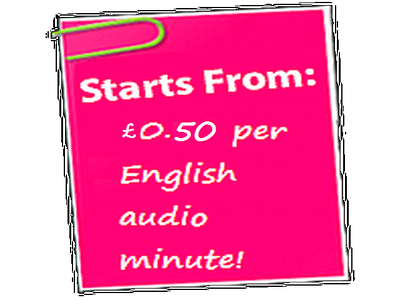 Transcribe English audio, per 10 minutes