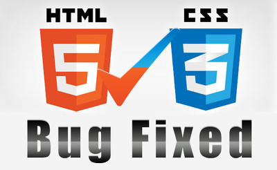 Fix any HTML/Javascript/CSS related problems on your web page