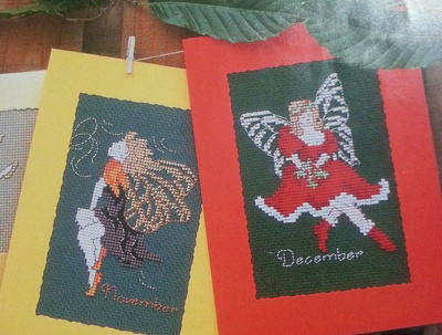 Create awesome Christmas card with cross stitch
