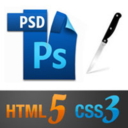 Convert one page PSD design to HTML5, CSS3, Bootstrap