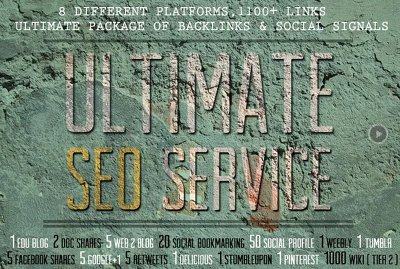 Provide All In One Ultimate SEO service for link building