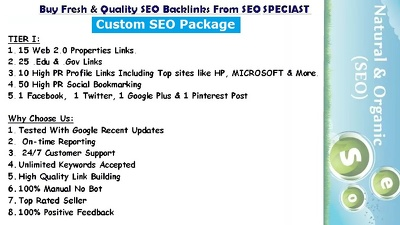 Manually do a Custom SEO Package To Get Your Business Top In Google
