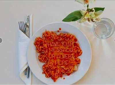 Write your message in a unique way using alphabet spaghetti perfect for your website