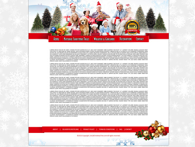Make responsive Content Managed Website for Christmas