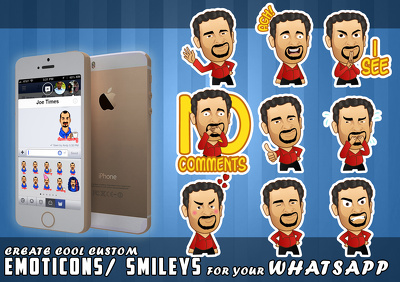 Create cool cartoon Emoticons/Avatars as Stickers  for your Whatsapp