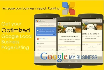 Do Google local business listing creation and optimization