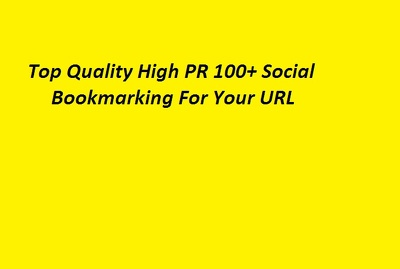 Do Top Quality High PR Social Bookmarking Submission Manually