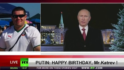 Wish happy birthday or New Years from Vladimir Putin to someone special
