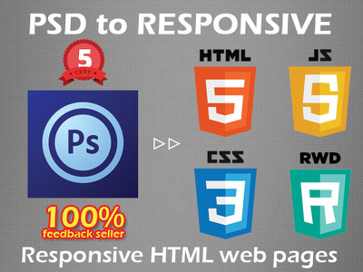 Convert a PSD to responsive HTML5+CSS3