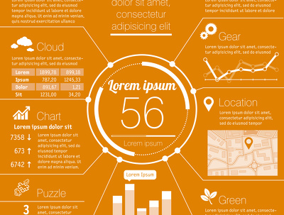 Design a complete vector infographic for you with unlimited revisions