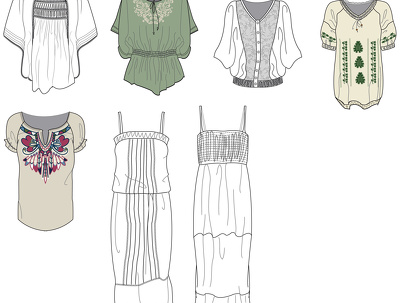 Create fashion flat drawings