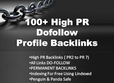 Create 100+ dofollow highly authorized Google dominating profile backlinks