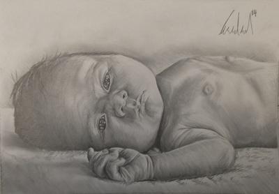 Draw your newborn baby