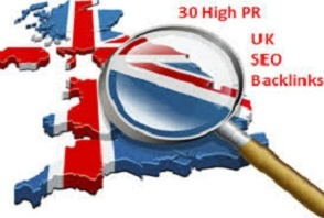 Do 30 High PR UK SEO Backlinks for Your Website or Social Media Accounts