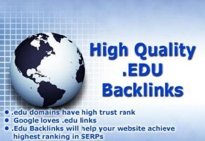 Manually create 20 PR10 High PR Backlinks Permanent dofollow edu