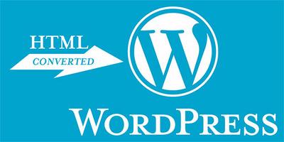 Convert html in wordpress theme