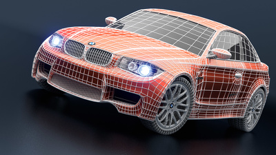 Design 3D model of your car with 4 photorealistic renders views