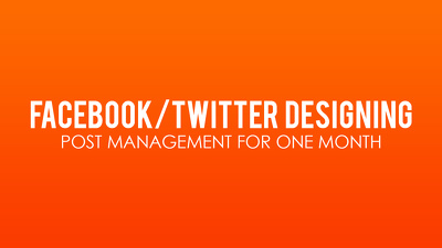Design your Facebook page  (Post/timeline Graphics) professionally