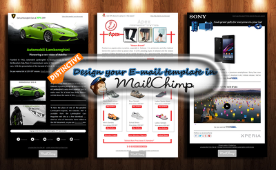 Design and build a distinctive, eye catching MailChimp email template/ newsletter