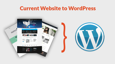 Redesign  / convert your existing html website to WordPress site