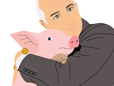 Draw you with your pet and in vector format
