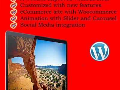 Customise and setup  your Wordpress theme