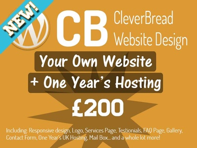 Design a website and host it for one year