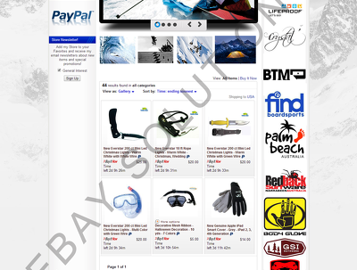 Design and install a bespoke custom ebay shop/store template