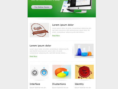 Design responsive Email newsletter to mailchimp editable