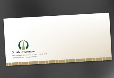 Design a descent and stylish single or double sided envelope for your company