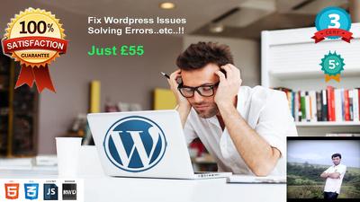 Fix any wordpress issues