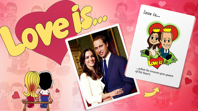 "Draw romantic ""LOVE IS…"" style caricature from your Photo"