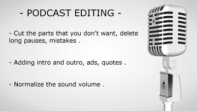 edit audio for you'r podcast or interview