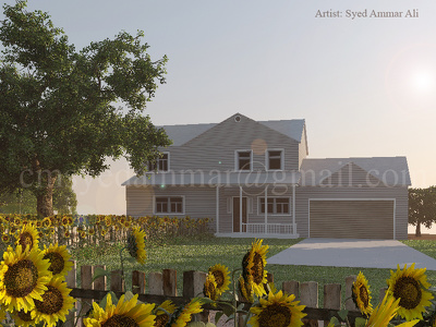 Create 3D Realistic House/Bungalow (Exterior) with Unlimited Revisions
