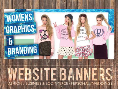 Design you a creative and professional banner for your websiste