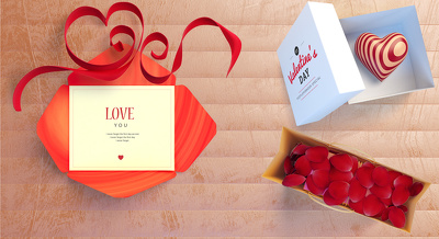 Design and create a high quality valentine style banner or slider