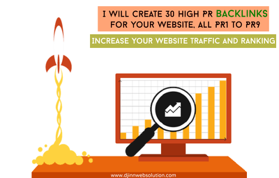 Create 30 High PR Backlinks for your website, all PR1 to PR9